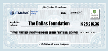 Mock check for The Dallas Foundation